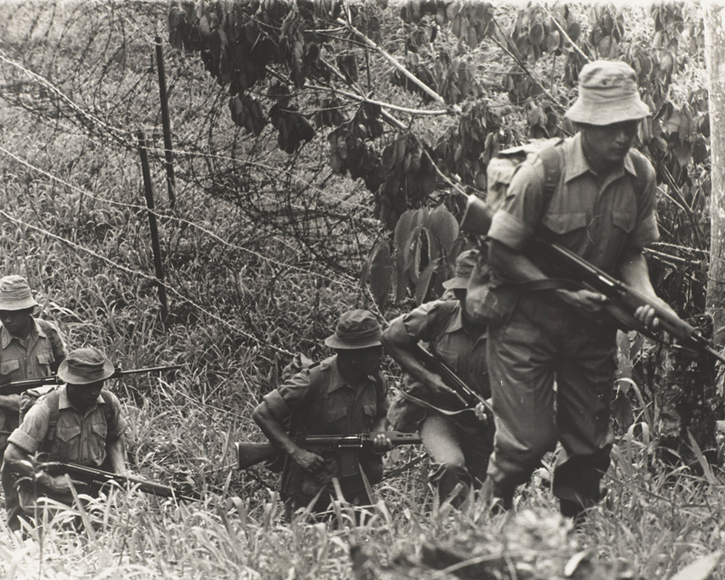 2nd Battalion 7th Duke of Edinburgh's Own Gurkha Rifles on patrol near Sabah, North Borneo, March 1966