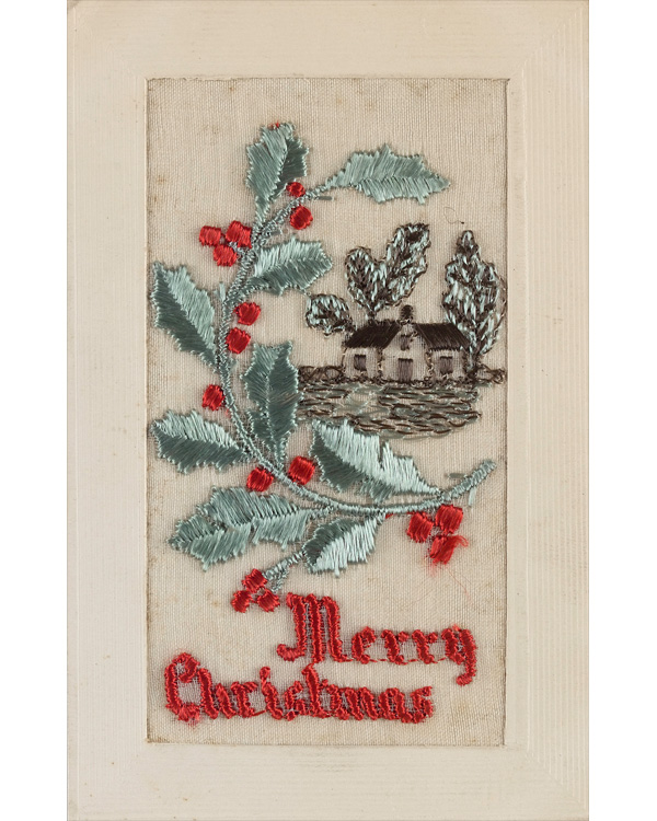 Christmas postcard sent by by Private Holly Chrismas to Ada Manley, 15 December 1916
