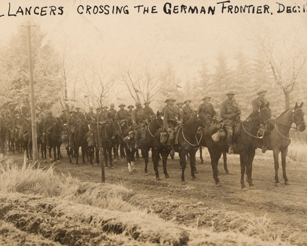 12th Royal Lancers crossing the German Frontier to join the Army of Occupation, 1 December 1918