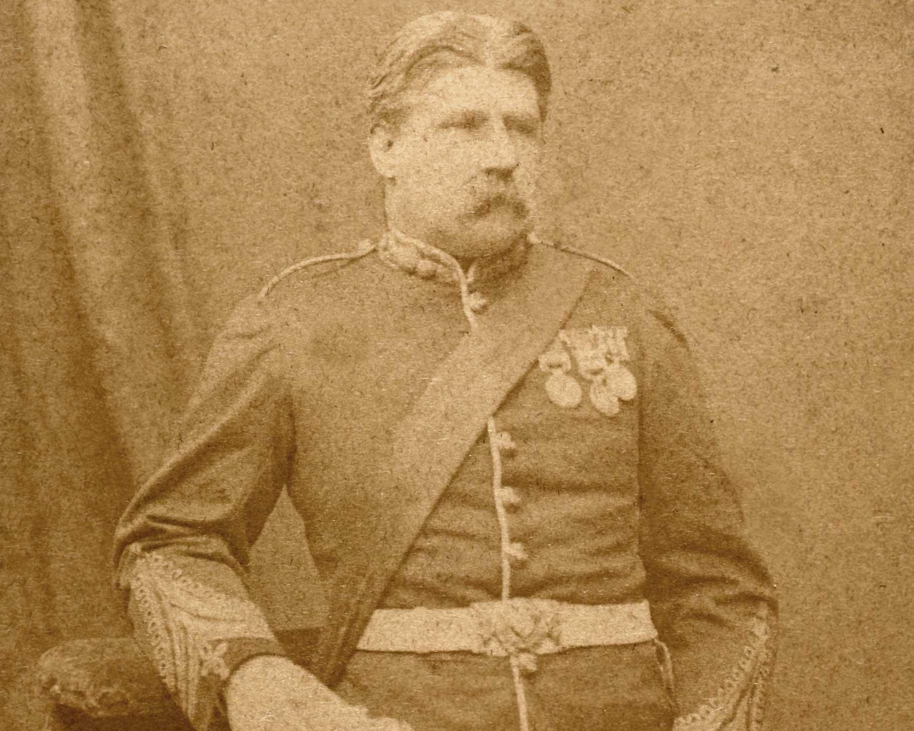 Lieutenant Colonel Campbell Clark, 104th Regiment of Foot (Bengal Fusiliers), c1877