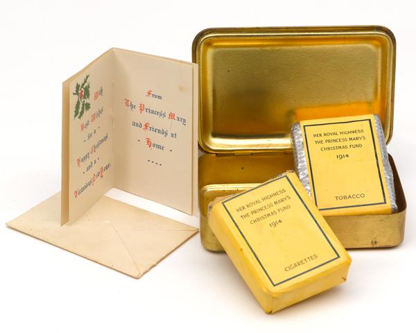 Princess Mary tobacco box sent to Captain Charles Ogden, 1st Battalion The Bedfordshire Regiment, 1914