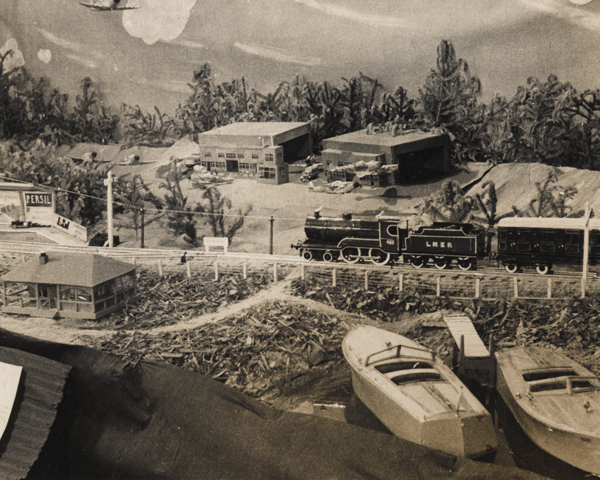 Scenery on the model railway at Stalag 383, c1943