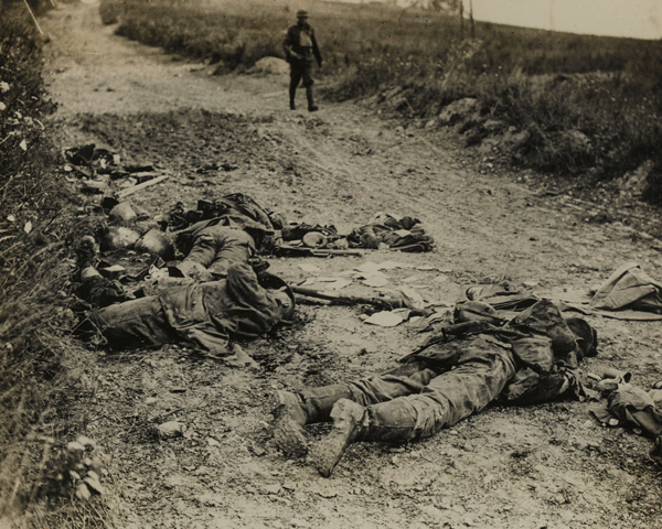 German soldiers killed near Chipelly during the August offensive, 1918