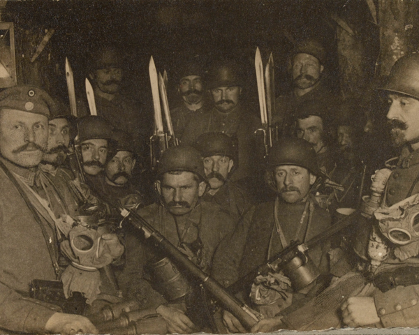 German storm-troopers waiting to go over the top, 1918