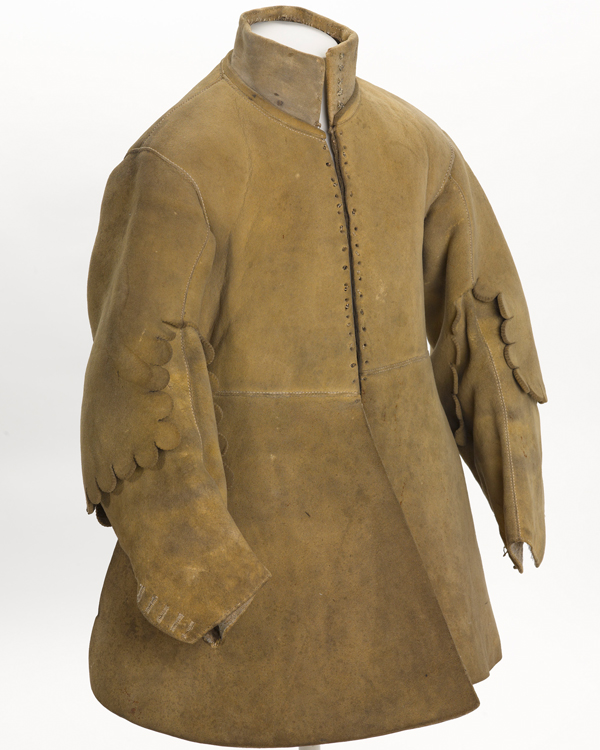 Buff coat worn by harquebusier Major Thomas Sanders, 1640s