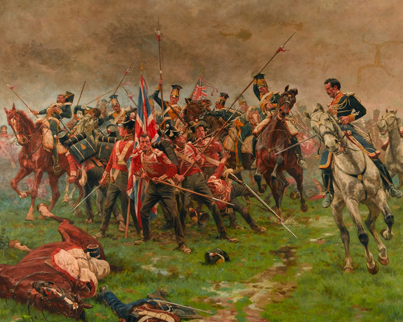 The Buffs defending the Colours at Albuera, 1811