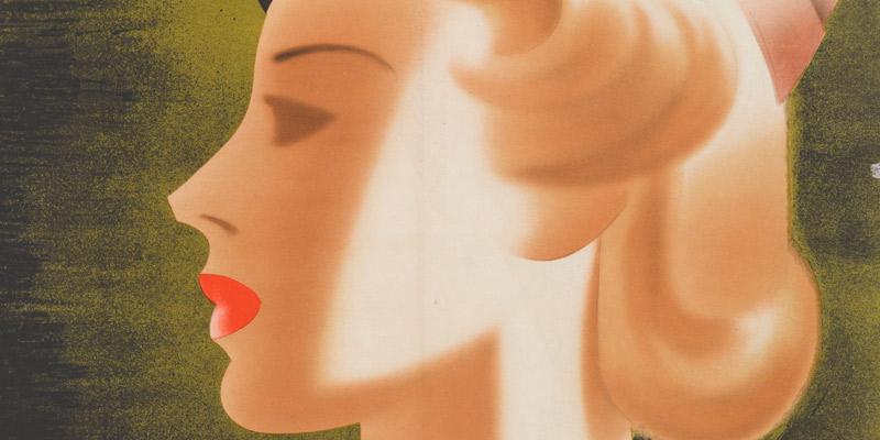 The 'blonde bombshell' poster