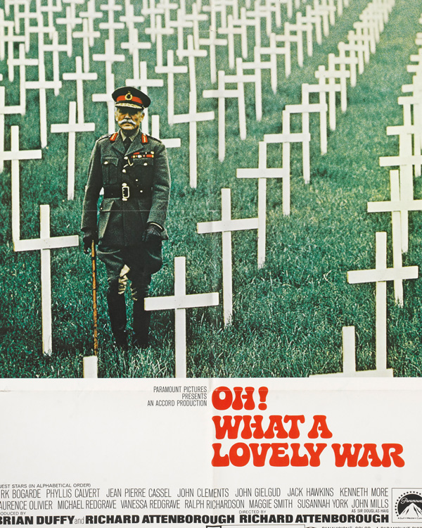 Poster for the 1960s musical 'Oh! What a Lovely War'