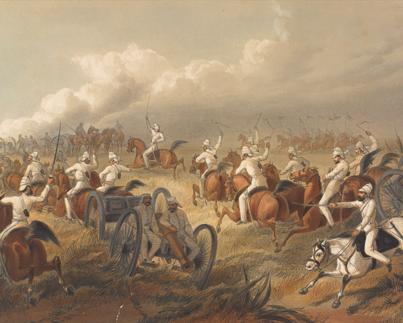 Bengal Horse Artillery in action, 1857