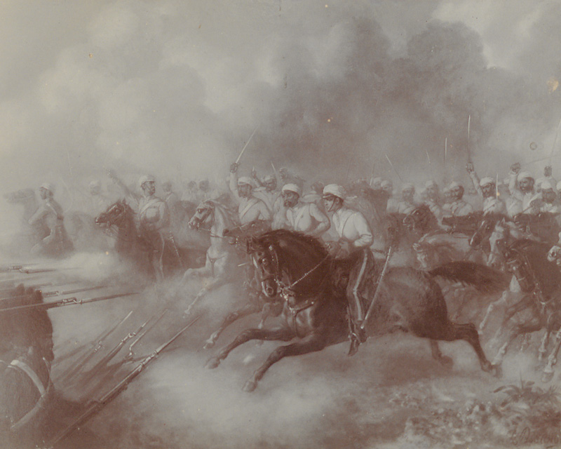 The charge of the 3rd Bombay Light Cavalry at the Battle of Khoosh-ab, 1857