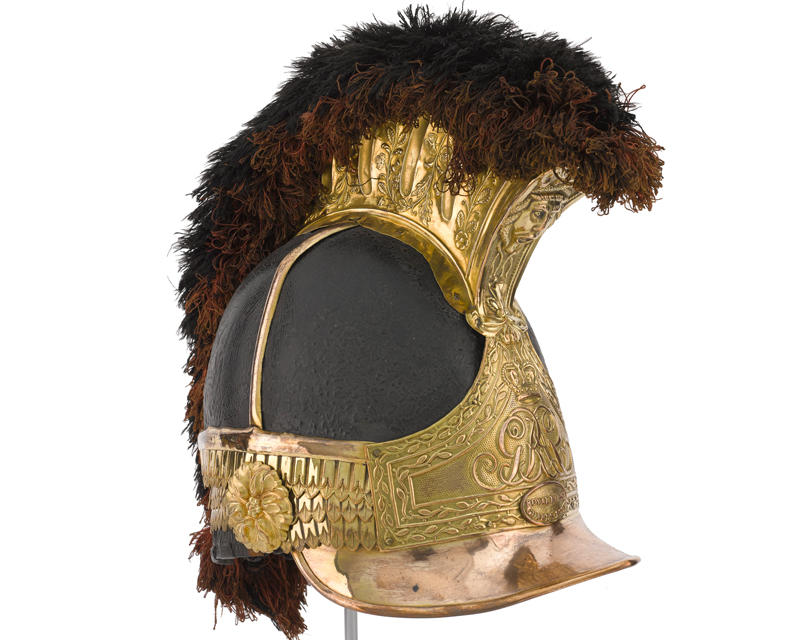 Helmet worn at Waterloo by Captain William Tyrwhitt-Drake, Royal Horse Guards, 1815