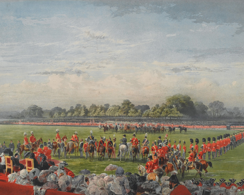 Queen Victoria presenting the first Victoria Crosses in Hyde Park on 26 June 1857