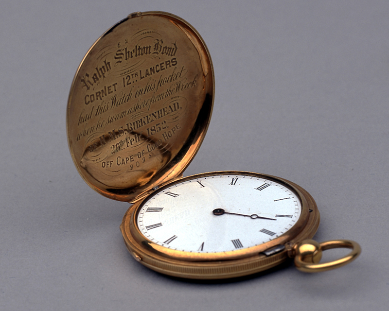 Gold watch owned by Cornet Ralph Shelton Bond, 12th (Prince of Wales's Royal) Lancers, 1852