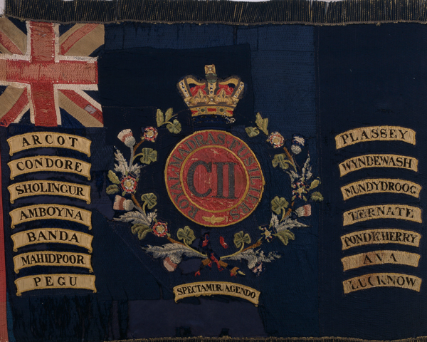 Regimental Colour of the 1st Battalion, The Royal Dublin Fusiliers, 1907