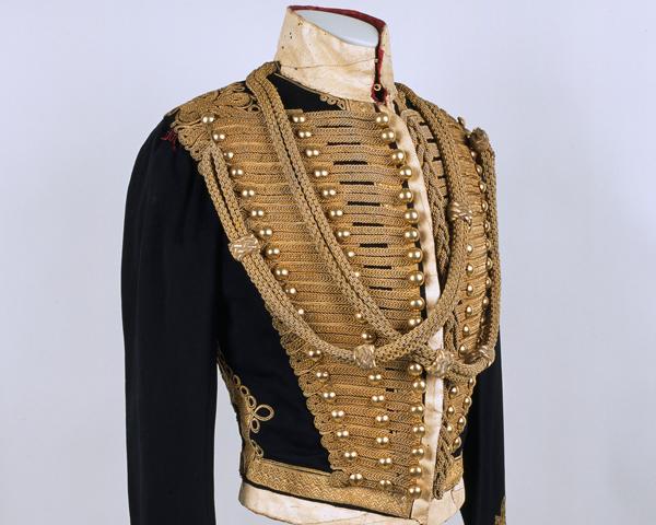 Pelisse worn by Lieutenant Walter Brinkley, 11th (Prince Albert's Own) Hussars, c1848
