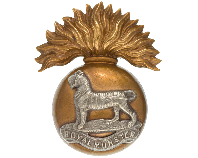 Cap badge of the Royal Munster Fusiliers, 1894-1922