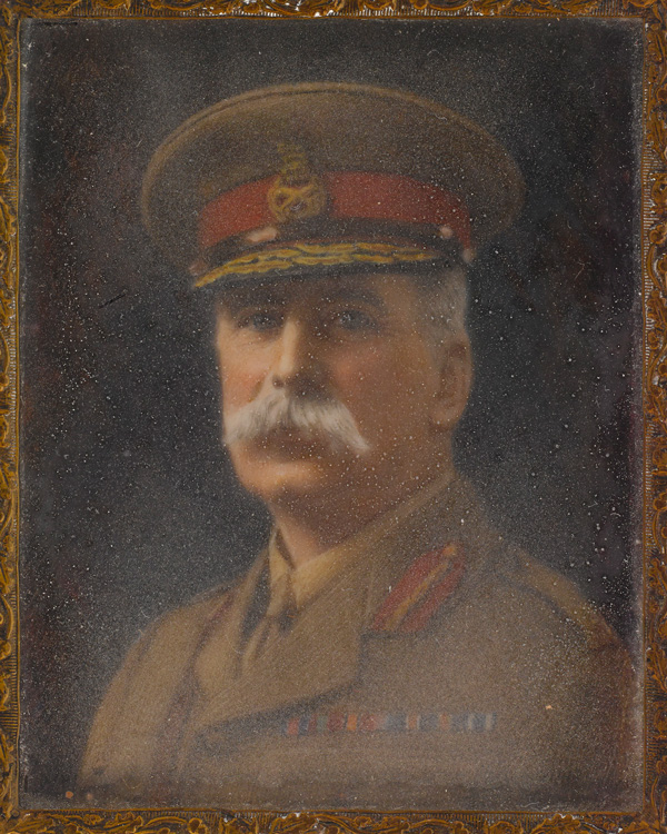Miniature watercolour on ivory of Brigadier-General Francis Stone, by unknown artist, c1900