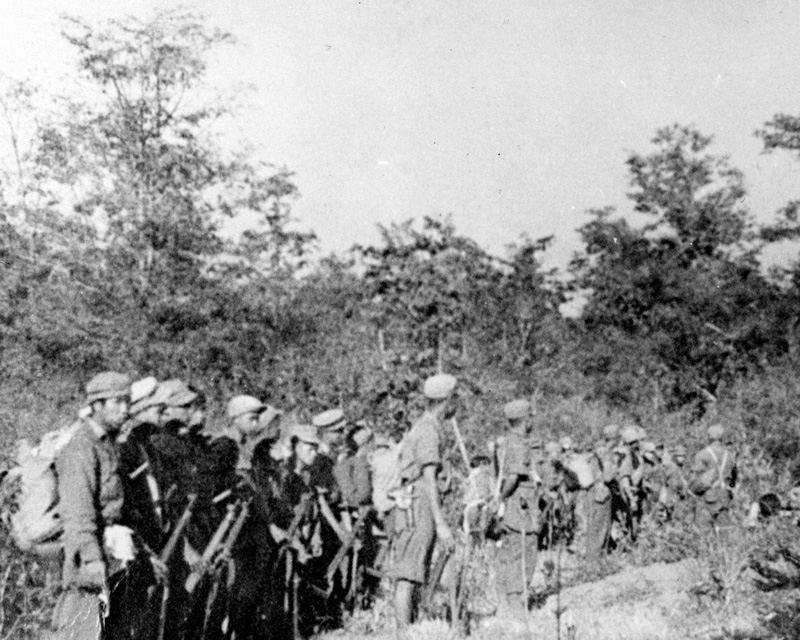 Kachin guerrillas who fought with the British and Americans against the Japanese, 1945