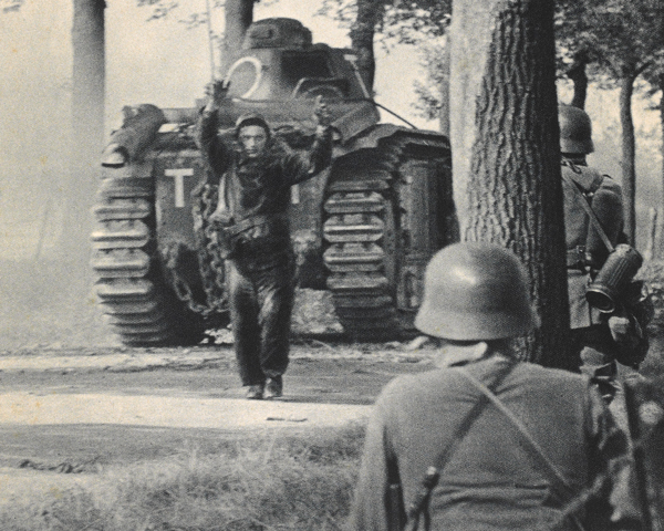 A French tank crew surrender, June 1940