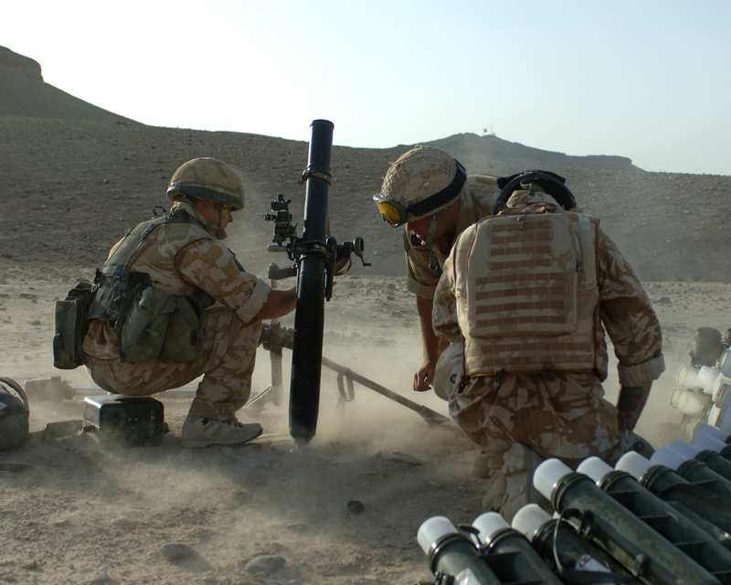 3rd Battalion The Parachute Regiment fire mortars into Musa Qala, 2006