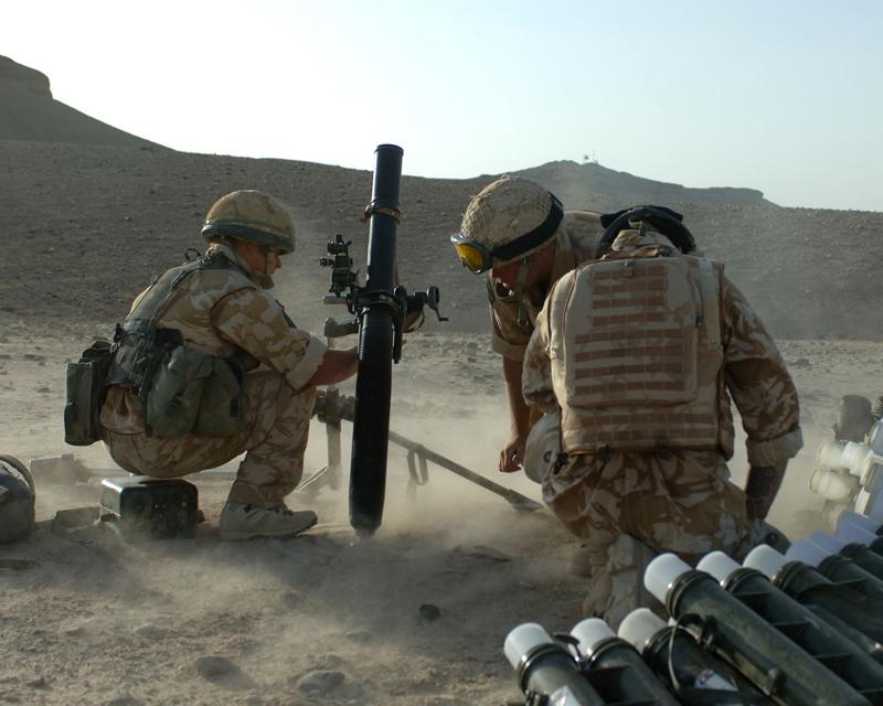 3rd Battalion The Parachute Regimentfire mortars into Musa Qala, 2006