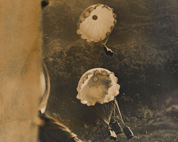 Airdrop to Chindits in northern Burma, 1943