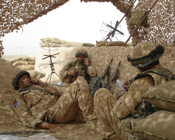 Members of 216 (Parachute) Signal Squadron at Now Zad in Helmand, Afghanistan, 2006