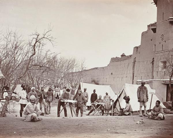 Royal Engineer signallers in Afghanistan, 1879