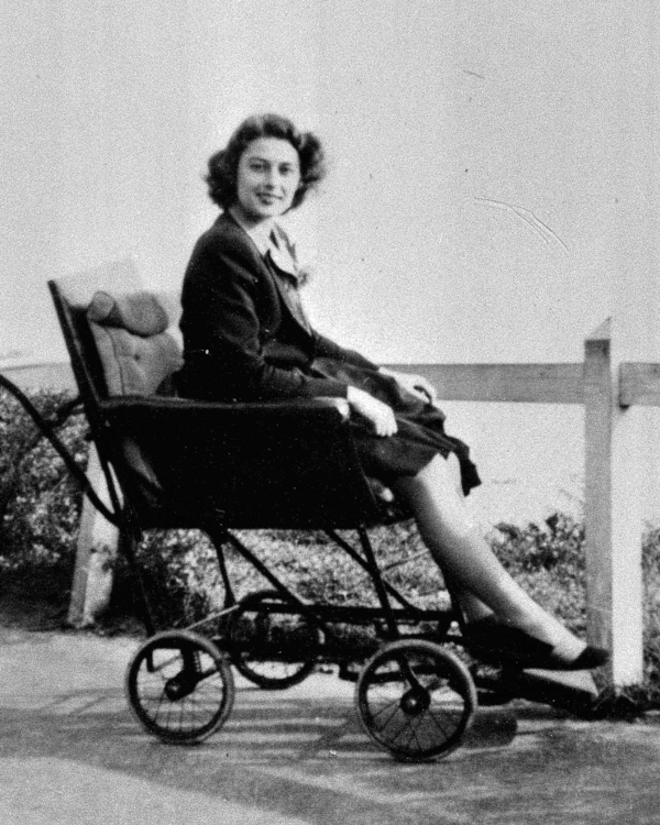 Violette Szabo recovering from injuring her ankle in a practice parachute jump, 1944