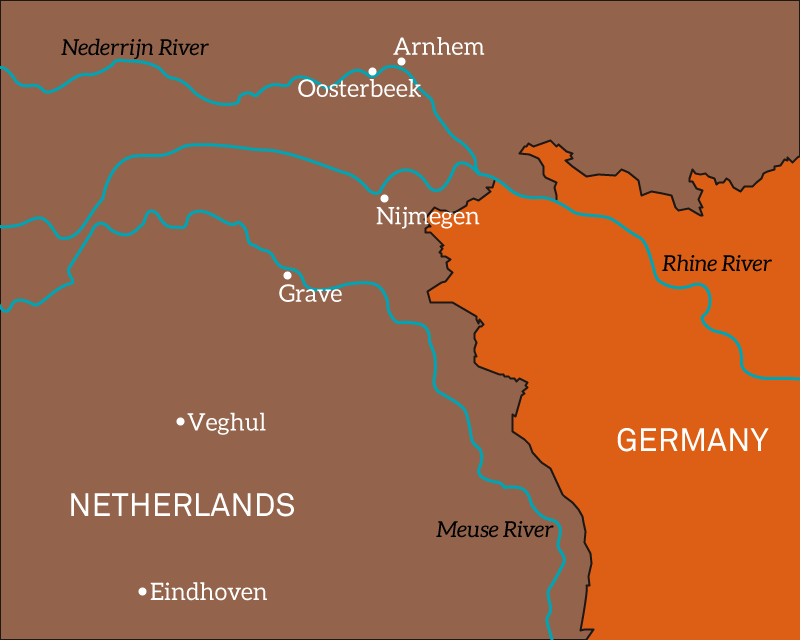 Map of the south-east Netherlands, 1944