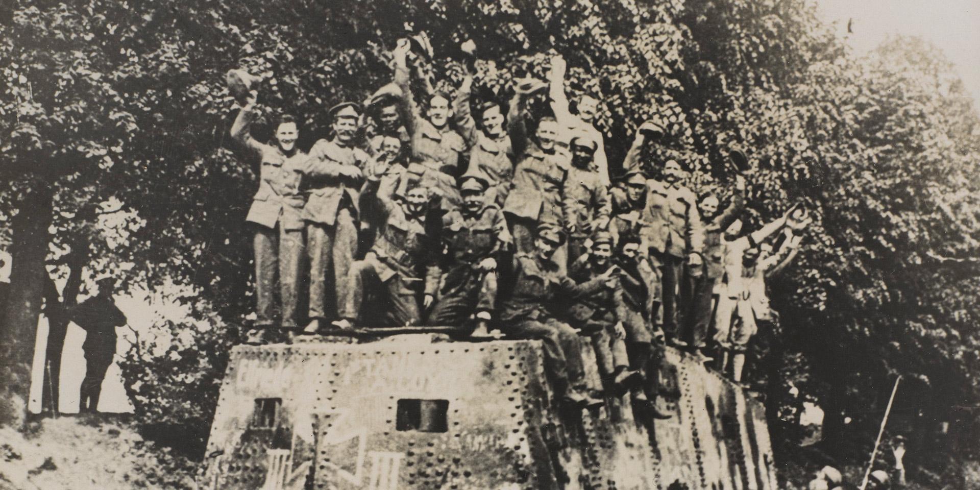 The tank clash at Villers-Bretonneux