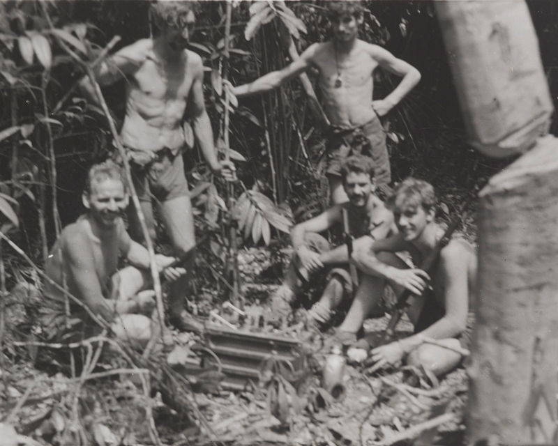 Malayan Scouts in the jungle, 1955