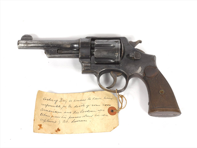 Revolver given to Captain Lionel Gray by Lieutenant Colonel T E Lawrence in 1916