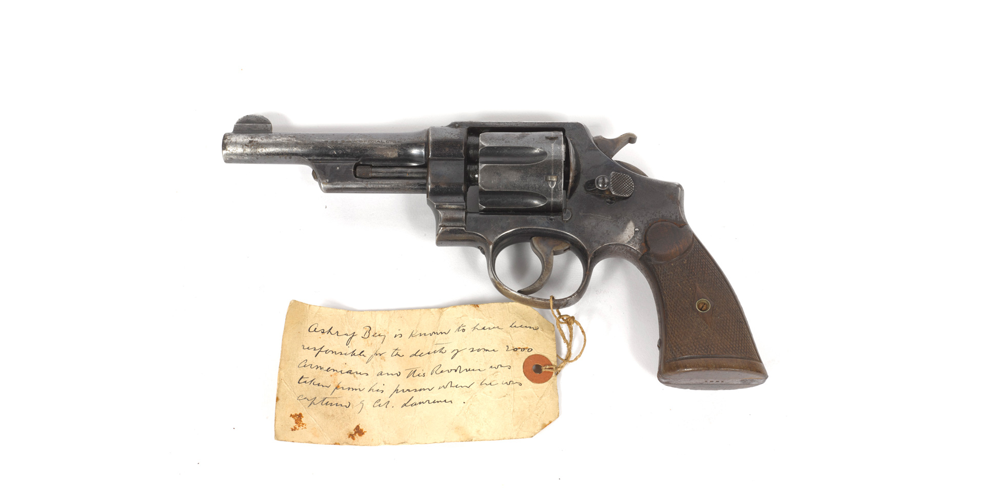 Revolver given to Captain Lionel Gray by Lieutenant Colonel TE Lawrence