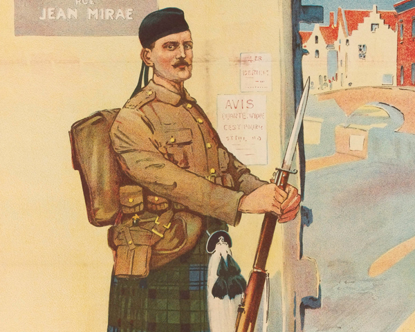 A soldier of the Black Watch (Royal Highlanders) in France, 1914