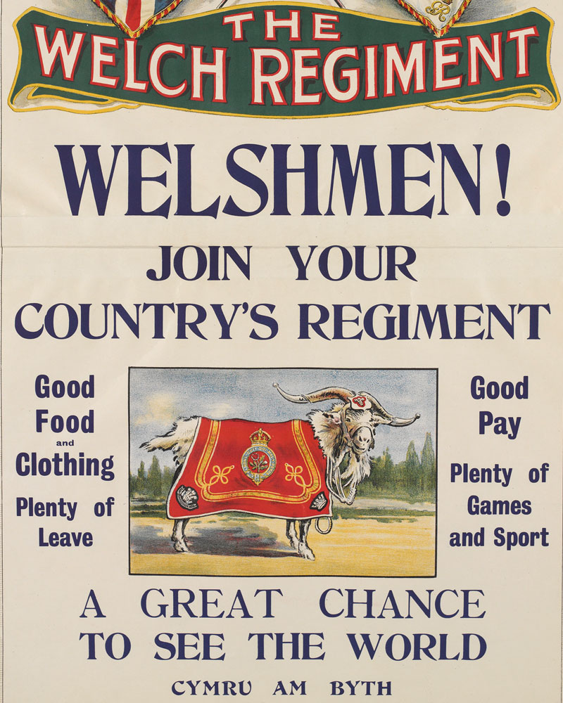 Recruitment poster for The Welch Regiment, 1930