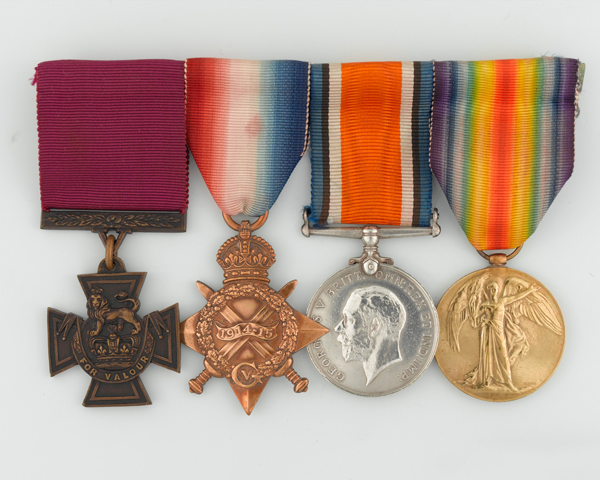 VC group awarded to Private Thomas Hughes, 6th Battalion, The Connaught Rangers, for his actions at Guillemont, 1916