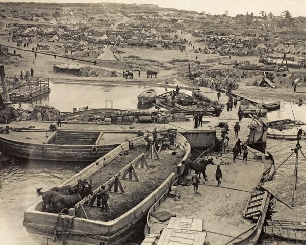 'V' Beach, Cape Helles, April 1915