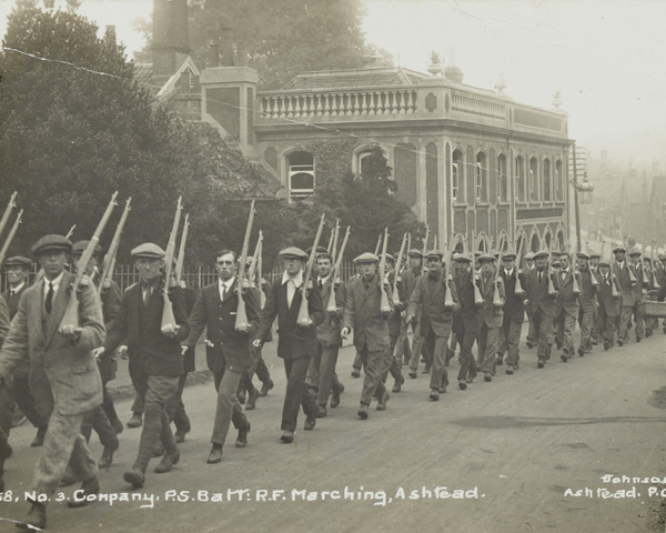 Recruits for Public Schools Battalion, The Royal Fusiliers, August 1914