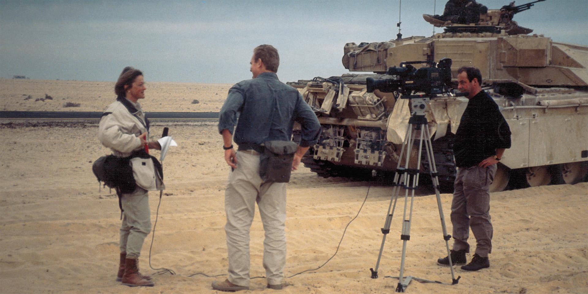 Kate Adie report in desert