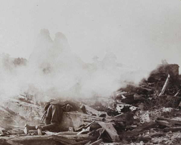 The ruins of Gheluvelt, 1914