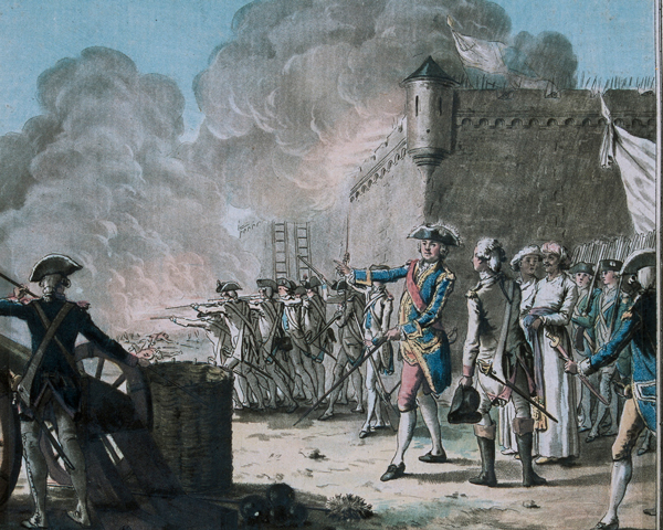 The siege of Pondicherry, 1748