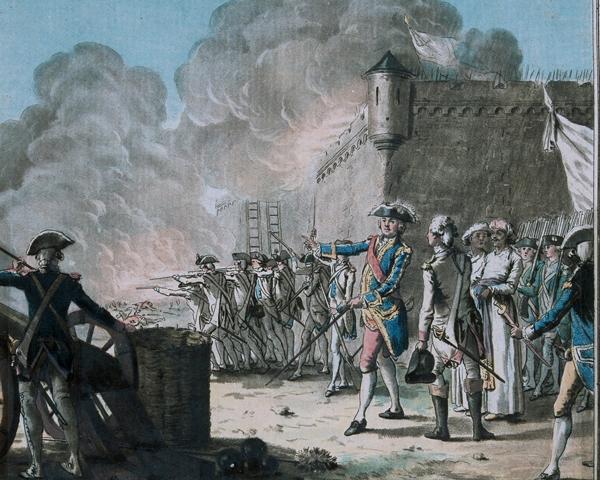 The siege of Pondicherry, 1748