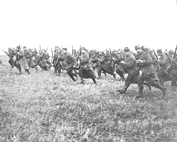 French infantry charging, 1914