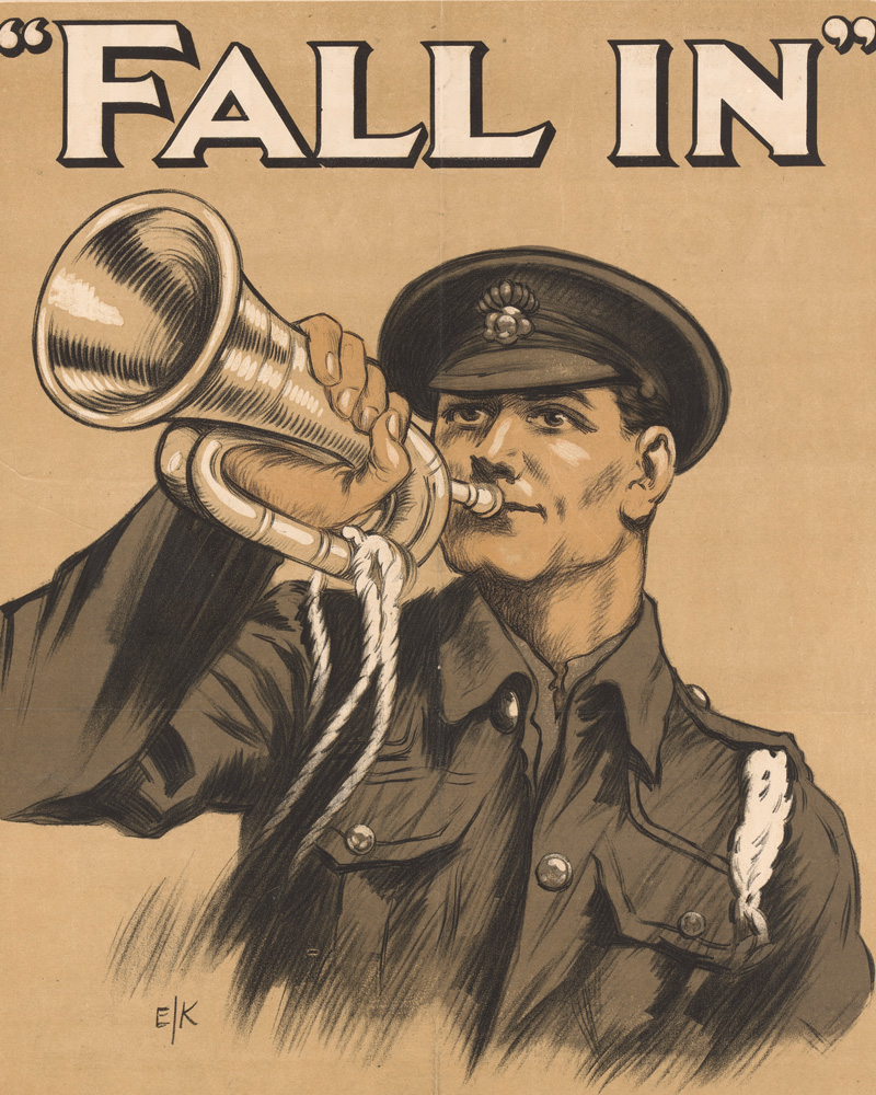 'Fall in. Answer now in your country's hour of need', 1914