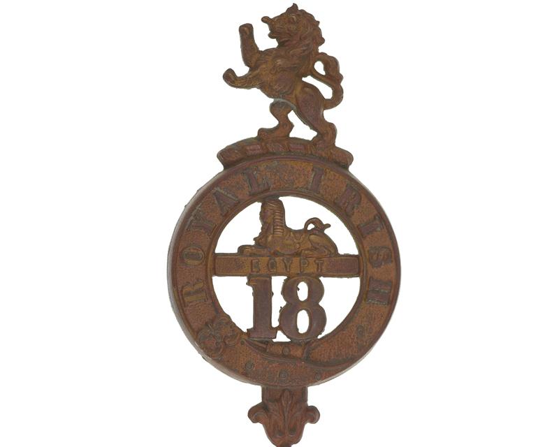 Glengarry badge, 18th (Royal Irish) Regiment of Foot, c1874