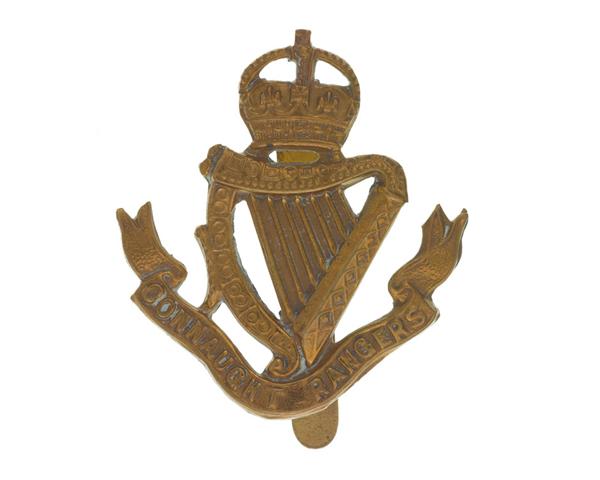Cap badge of The Connaught Rangers, c1881