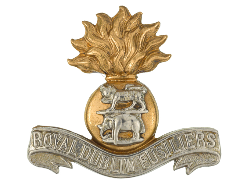 Cap badge of The Royal Dublin Fusiliers, c1898-1921
