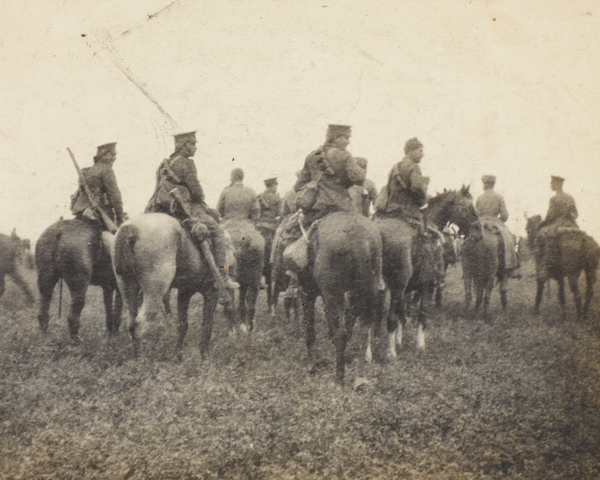 British cavalry at Nery, 1 September 1914