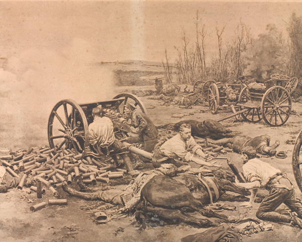 'L Battery Royal Horse Artillery in action at Nery', 1 September 1914